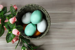 A basket of Eggs Royalty Free Stock Images