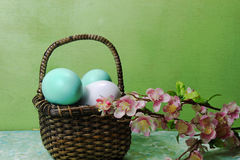 A basket of Eggs Royalty Free Stock Image
