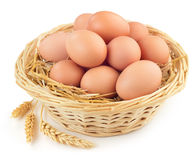 Basket of eggs Royalty Free Stock Photography