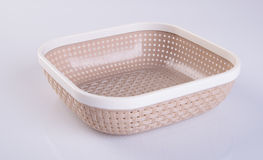 basket or empty plastic basket on a background. Royalty Free Stock Photos