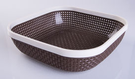 basket or empty plastic basket on a background. Royalty Free Stock Images