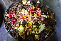 A basket exotic  blossom. A basket full of flowers not fresh, Sri Lanka Stock Images