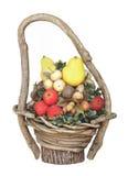 Basket of fake fruit isolated. Stock Photography
