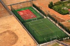 basket fields fotboll Royaltyfria Foton