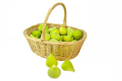 Basket of figs Stock Photos