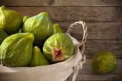 Basket With Figs Stock Image