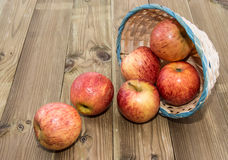 A basket filled with Apples Stock Photo