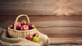 Autumnal background before wooden board Royalty Free Stock Image