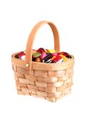 Basket filled with candy Royalty Free Stock Images
