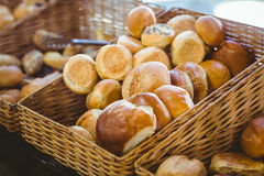 Basket filling with delicious bread Stock Photo
