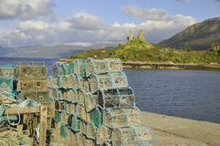 Basket fish traps Royalty Free Stock Image