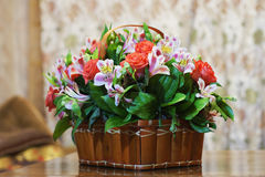 Basket of flowers Royalty Free Stock Photo