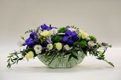 Basket with flowers. Basket of flowers  on white background Royalty Free Stock Photo