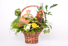 Basket of flowers stock photography