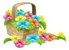 Basket of Flowers Design royalty free illustration