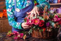 Basket of flowers. Royalty Free Stock Image