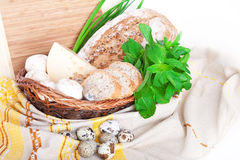 The basket with a food Royalty Free Stock Photo