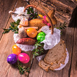 Basket of food. A fresh and tasty polish basket of food Royalty Free Stock Photos
