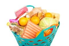 Basket of food Royalty Free Stock Photo
