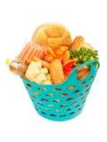 Basket of food Stock Image