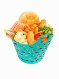 Basket of food Royalty Free Stock Image