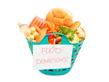 Basket of food Royalty Free Stock Images