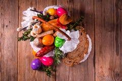 Basket of food Stock Photos