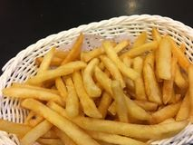 Basket of French fries Royalty Free Stock Photos