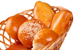 Basket of fresh baked rolls Royalty Free Stock Image