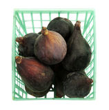 Basket with fresh figs Royalty Free Stock Photos