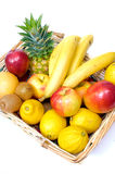 Basket with fresh fruits Stock Photography