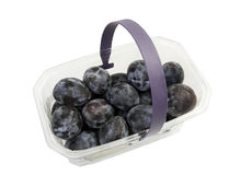 Basket of fresh italian plums Royalty Free Stock Photos