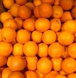 Oranges. A basket of fresh oranges royalty free stock photography