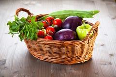 Basket with fresh organic Stock Image