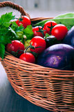 Basket with fresh organic Royalty Free Stock Photography