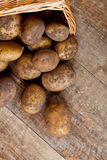 Basket with fresh potatoes Royalty Free Stock Image