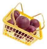 Basket of Fresh Red Potatoes Stock Images