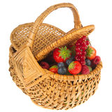 Basket fresh soft forest fruit Royalty Free Stock Photography
