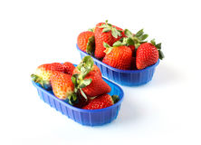 Basket with fresh strawberries Royalty Free Stock Image