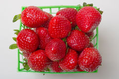 Basket of Fresh Strawberries Stock Images