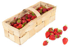 Basket of fresh strawberries Royalty Free Stock Image