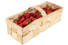 Basket of fresh strawberries Stock Image