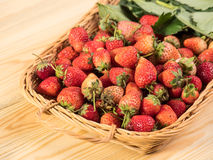 Basket of fresh strawberries Royalty Free Stock Images