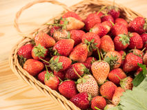 Basket of fresh strawberries Stock Photo