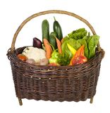 Basket with fresh vegetables Royalty Free Stock Photography