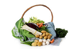 Basket of  fresh vegetables Royalty Free Stock Photo