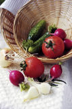 Basket of fresh vegetables Royalty Free Stock Image
