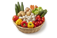 Basket with fresh vegetables Royalty Free Stock Image