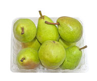 Basket of freshly picked Pears Stock Photography
