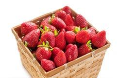 Strawberry Basket isolated on white Royalty Free Stock Photos